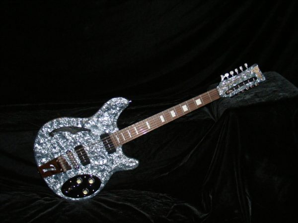 Italia Rimini 12 String Grey Pearloid